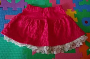 PARTYPARTY☆新品同様☆春夏物のスカート☆size100
