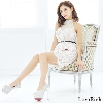 ペプラムデザイン ミニドレス シースルー タイスカート 衣装 キャバドレス チャムドレス