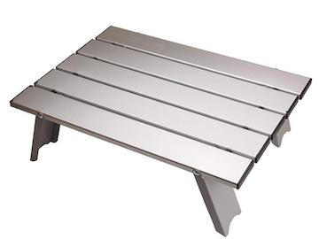 アルミ ロールテーブル ケース付 アウトドア用 折りたたみ式
