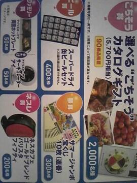 タイアップ選べるごちそうカタログギフト5700円相当など当たる!2口分