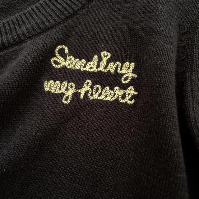 新品 ロゴ刺繍 カーディガン 綿100% < 女性ファッションの