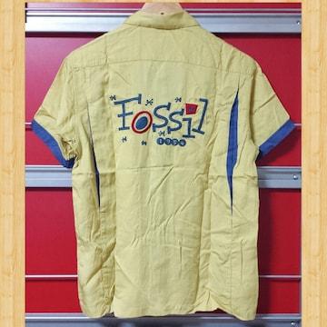 FOSSIL アメカジ ボーリングシャツ 新品 レーヨン ヴィンテージ S