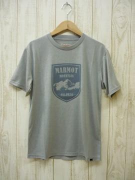 即決☆マーモット特価マウンテンエルバード半袖Tシャツ GRY/M ポス 吸汗・速乾