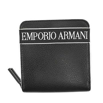 ★エンポリオアルマーニ 2つ折財布(BK)『Y4R305 YTX0J』★新品本物★