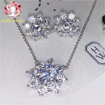 【ネックレス】Sunflower necklace pierce set