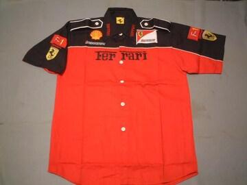★激安★F1★Ferrari★Team★ピットシャツ★XXL★赤黒★新品★