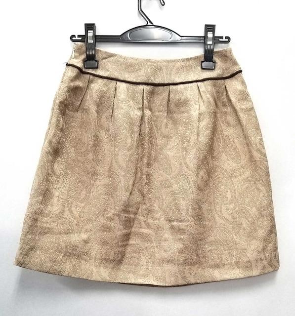 DHCディーエイチシースカート台形ミニスカートベージュレ  < ブランドの