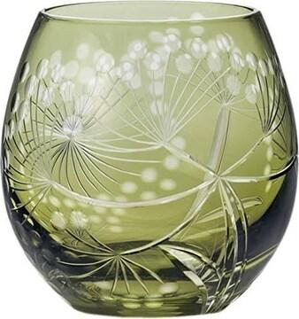 東洋佐々木ガラス フリーグラス グリーン 350ml キリコ スズカセ