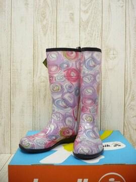 即決☆カミック 特価 W's レインブーツ [SQ] PPL/23cm 新品 長靴
