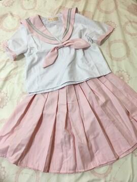 コスプレ/ピンクのセーラー服Mサイズ/制服