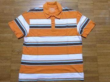 即決USA古着●ARIZONA鮮やかボーダーデザイン半袖ポロシャツ!ビンテージ