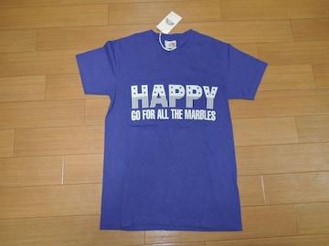 新品MARBLESマーブルズTシャツS紫HAPPYカットソー