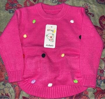 新しい冬の子供たちのセーターの女の赤ちゃん