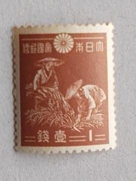 【未使用】弟1次昭和切手 1銭稲刈り 1枚
