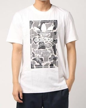 adidasアディダス☆白ロゴマークTシャツ