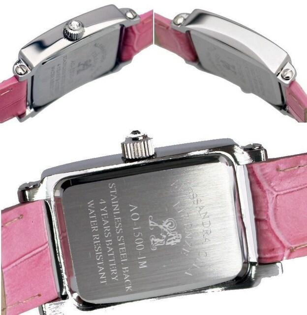 アレサンドラオーラ レディス腕時計 牛革型押しベルト AO-1500-1 桃 < ブランドの