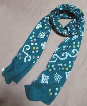 コットン製 絞り染め大判スカーフ*1 ドゥパッタ