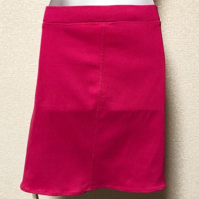 【新品/Mary Rose/L】裾スカラップ☆リボン付タイトスカート < ブランドの