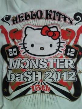 四国 モンスターバッシュ 2012 ハローキティ コラボ Tシャツ ホワイト Sサイズ ロック コンサート