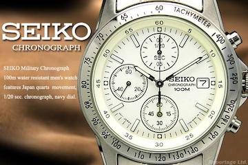 税込!海外限定生産モデル【SEIKO】セイコー1/20秒高速クロノSV