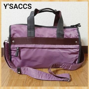 購入18000円 Y'SACCS イザック ミニボストン ショルダーバッグ 美品 ワイズ