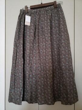 SM2☆新品☆綿花柄タックギャザースカート