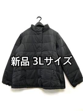 新品☆3L♪黒♪ダウンのような軽くて暖か発熱ジャケット☆h168