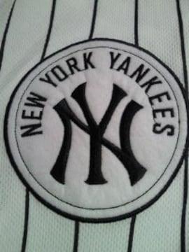 メジャー 野球 ニューヨーク ヤンキース ユニフォーム 風 シャツ ホワイト Lサイズ