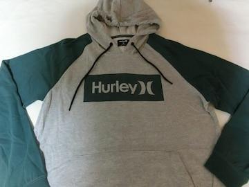 USA購入【HURLEY】プルオーバーパーカーUS L 灰緑