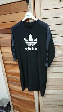 アディダス オリジナルス ドレス ワンピース 黒 トレファイル L