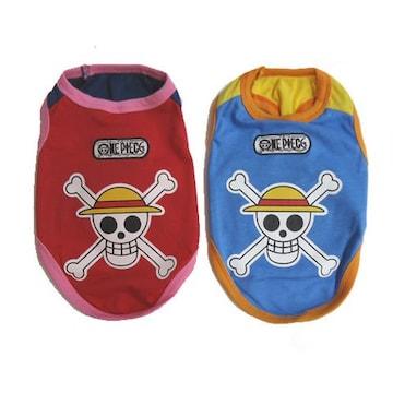 ONE PIECE タンクトップ 《海賊旗》 2号 レッド★新品 〜3kg位