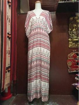 アジアン柄ロングワンピ★ヒッピー★アジアン★サイケ★個性派★