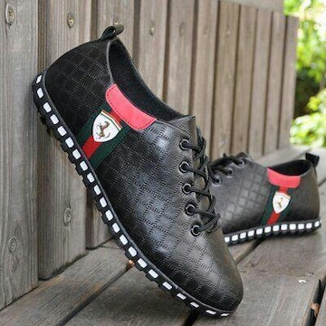 24.5cm スニーカー 黒 靴 メンズ レディース