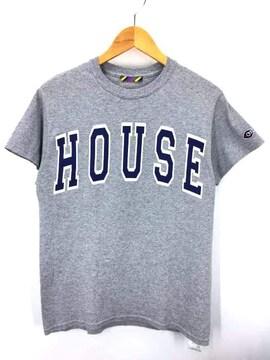 is-ness(イズネス)MUSIC HOUSE T-SHIRTクルーネックTシャツ