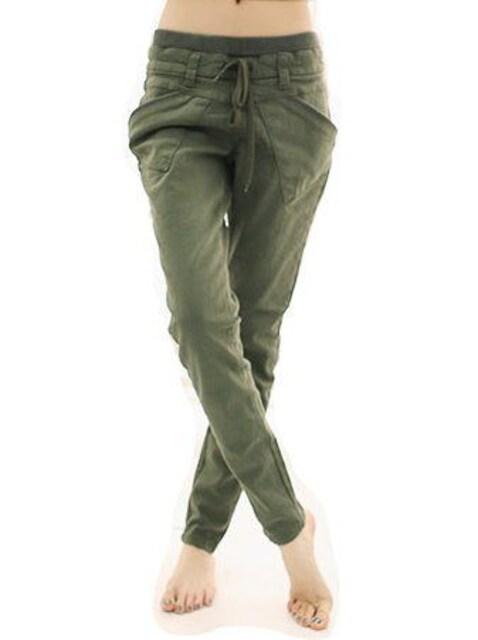 ポケットが可愛い★リラックス★カーゴパンツ(カーキ.M寸) < 女性ファッションの