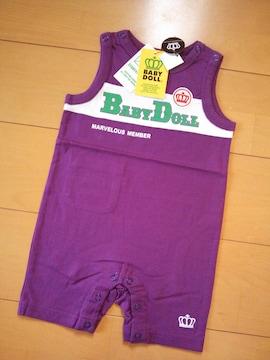 F切替タンクロンパース80紫ベビードールBABYDOLLベビド