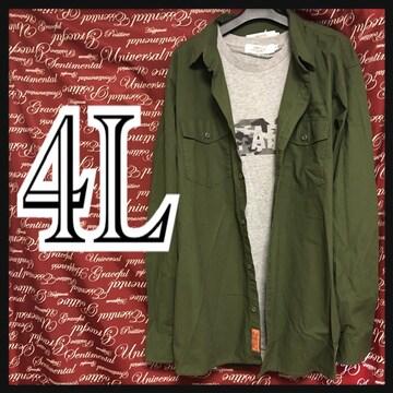 4L・英字プリントシャツ・Tシャツセット新品/MC03P-010
