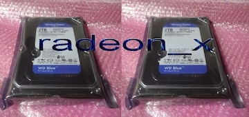 【新品】  WD3.5HD 2T WD20EZAZ-RT x2個 S-ATA接続