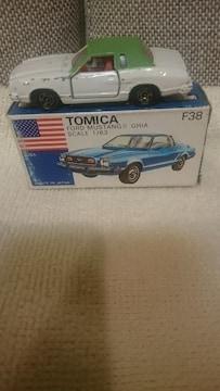 中古 貴重!当時モノ 青箱トミカ  フォードムスタング�U ギア 1/63 日本製