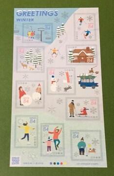 2019 冬のグリーティング★84円切手 1シート★シール式★