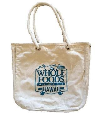 ホールフーズwhole foodsハワイオアフオーガニックコットンbag