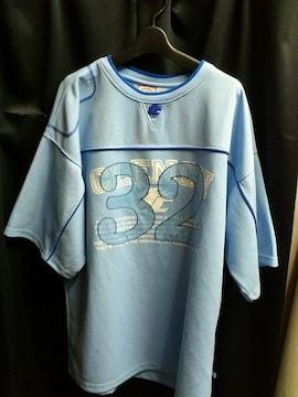 限定1点CLHクレンチ★ナンバリングゲームシャツライトブルー