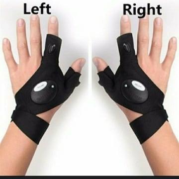 新品 未使用 手袋 ライト アウトドア ジョギング 防犯 安