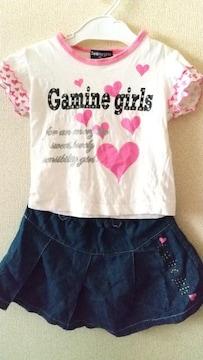 サイズ90☆ハート袖可愛いセット