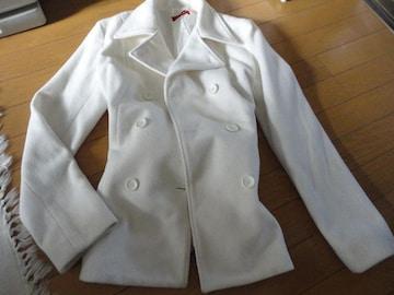 ホワイトハーフ丈 コート
