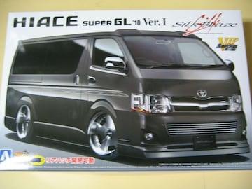 アオシマ 1/24 VIPアメリカン No.4 シルクブレイズ 200系ハイエース '10 Ver.�T