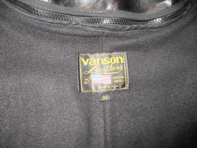 VANSON バンソン ライダースジャケット USA−S 美品  < ブランドの