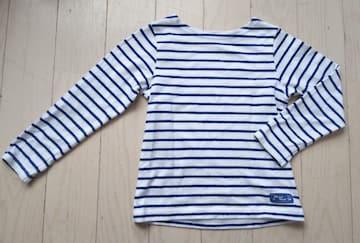 120★男女OK★ボートネックボーダーロンT★美品