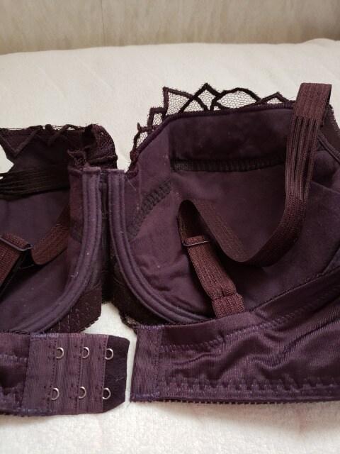 未使用タグ付き☆himico☆H70ブラ☆紫 < 女性ファッションの