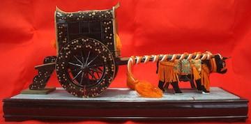伝統工芸雛人形/小道具「牛車&御駕籠」本金箔チラシ中古0211